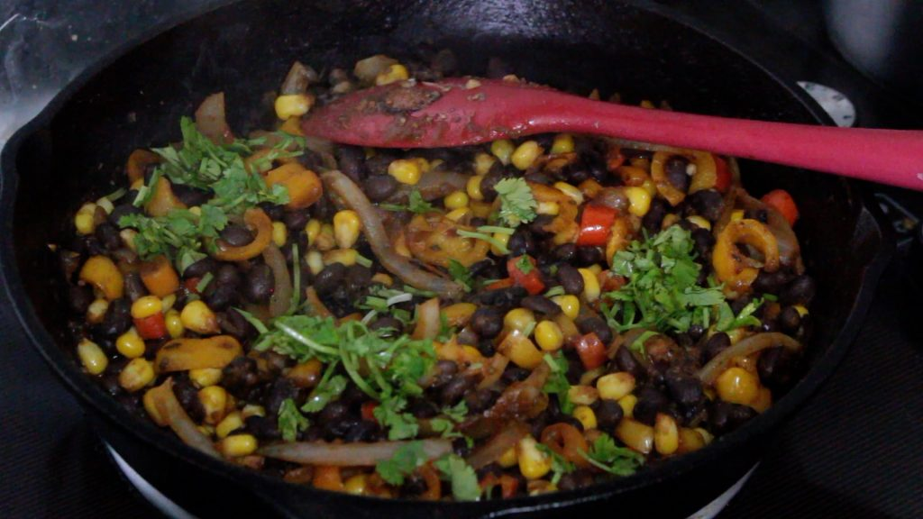 Black bean and Corn Tacos - taco mix